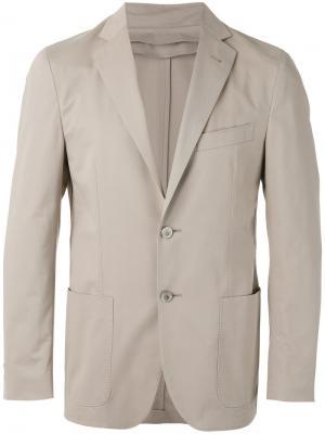 Пиджак со вставкой на молнии Corneliani. Цвет: телесный