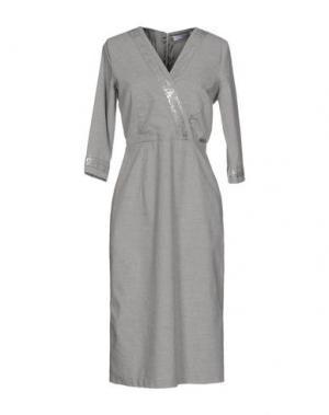 Платье до колена LA FABBRICA DEL LINO. Цвет: светло-серый