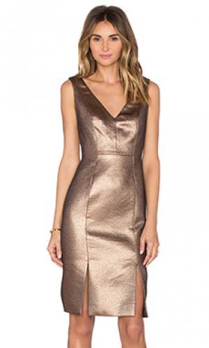 Платье copper lane TY-LR. Цвет: металлический золотой