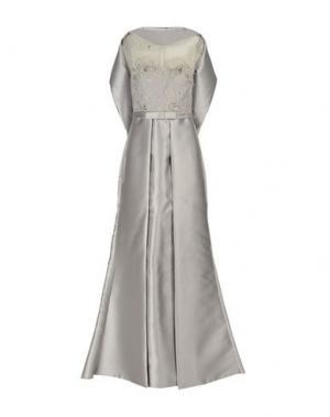 Длинное платье MUSANI COUTURE. Цвет: светло-серый