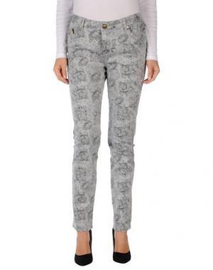 Джинсовые брюки DUCK FARM. Цвет: серый