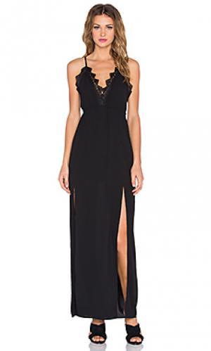 Макси платье lady lace RISE OF DAWN. Цвет: черный
