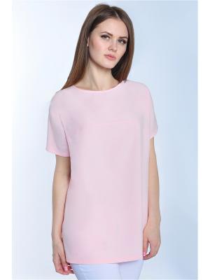 Блузка RISE. Цвет: бледно-розовый