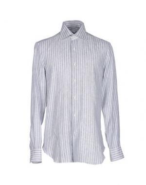 Pубашка BARBA NAPOLI. Цвет: серый