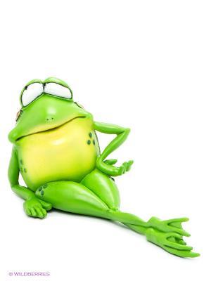 Фигурка-лягушка Мисс Фрогалина The Comical World of Stratford. Цвет: зеленый, белый, желтый, золотистый