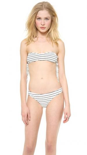 Лиф бикини бандо Dane Tyler Rose Swimwear. Цвет: серый