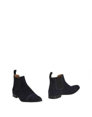 Полусапоги и высокие ботинки LEONARDO PRINCIPI. Цвет: темно-синий