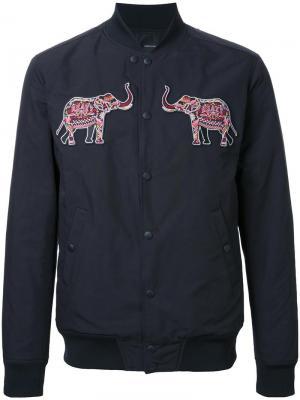Куртка-бомбер с нашивками-слонами Yoshio Kubo. Цвет: чёрный
