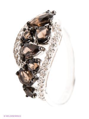 Кольцо Art Silver. Цвет: коричневый, серебристый