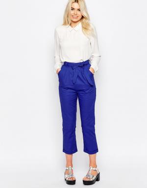 The WhitePepper Льняные брюки. Цвет: синий