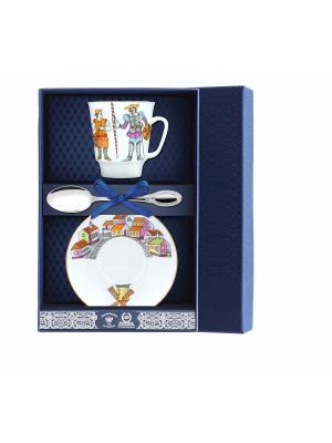 Набор чайный Майская - Балет Дон Кихот 3 предмета + футляр АргентА. Цвет: серебристый