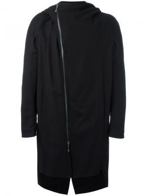 Пальто со смещенной застежкой Masnada. Цвет: чёрный
