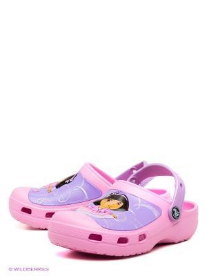 Сабо Creative Crocs Dora Ballet Clog. Цвет: розовый