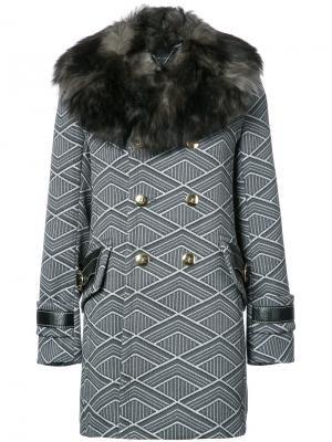 Double brestead coat Marc Jacobs. Цвет: серый