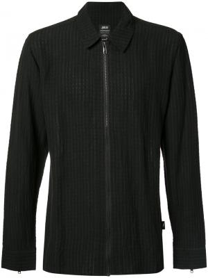 Клетчатая куртка рубашечного кроя Publish. Цвет: чёрный