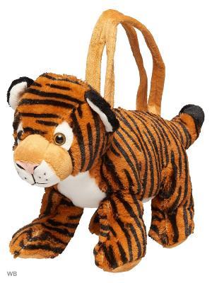 Сумочка Тигренок Fluffy Family. Цвет: оранжевый, белый, черный