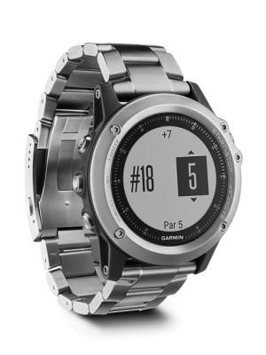 Умные часы Fenix 3 HR серебряный с титановым браслетом и встроенным пульсометром GARMIN. Цвет: серебристый