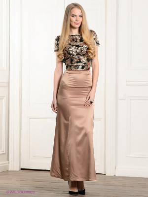 Платье Ksenia Knyazeva. Цвет: бежевый, черный