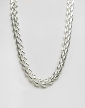 Pilgrim Посеребренное ожерелье. Цвет: серебряный