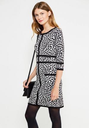 Платье Vay. Цвет: черно-белый
