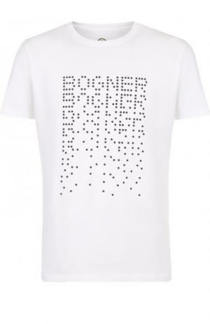 Хлопковая футболка с логотипом бренда Bogner. Цвет: белый