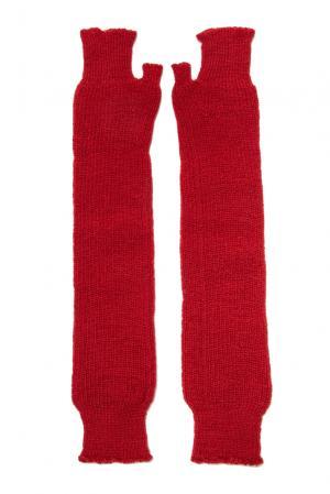 Митенки из шерсти 153307 Norsoyan. Цвет: красный