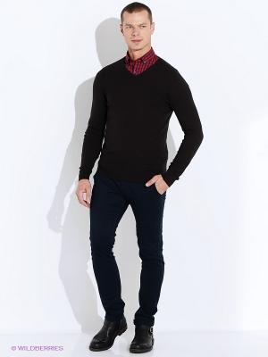 Пуловер Oodji. Цвет: темно-коричневый
