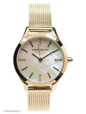 Часы KAREN MILLEN. Цвет: золотистый, белый