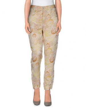 Повседневные брюки RA-RE. Цвет: бежевый