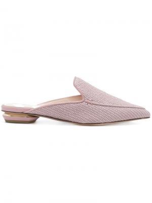 Мюли Beya на плоской подошве Nicholas Kirkwood. Цвет: розовый и фиолетовый