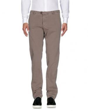 Повседневные брюки B SETTECENTO. Цвет: голубиный серый