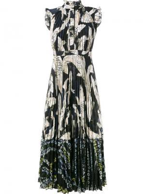 Платье с принтом рыб Erdem. Цвет: многоцветный