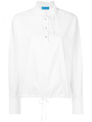 Рубашка Draw Mih Jeans. Цвет: белый