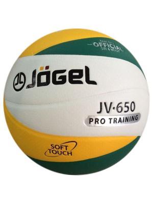Мяч волейбольный Jogel JV-650. Цвет: зеленый, желтый
