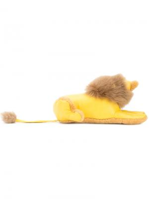 Брелок для ключей в виде льва Loewe. Цвет: жёлтый и оранжевый
