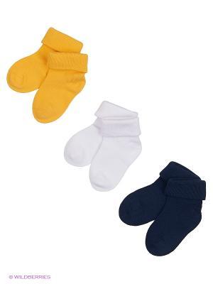 Носки детские трикотажные для мальчиков, 3 пары в комплекте PlayToday. Цвет: белый