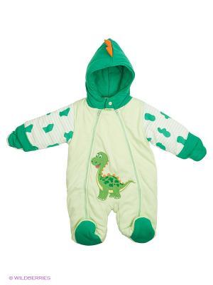 Комбинезон утеплённый Kidly. Цвет: зеленый, светло-зеленый