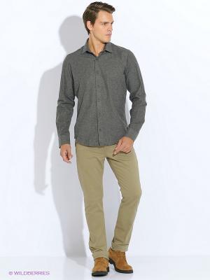 Рубашка BAWER. Цвет: серый