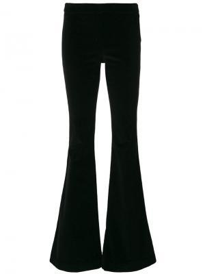 Расклешенные брюки Giamba. Цвет: чёрный