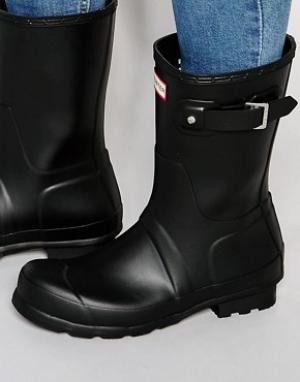 Hunter Короткие резиновые сапоги Original. Цвет: черный
