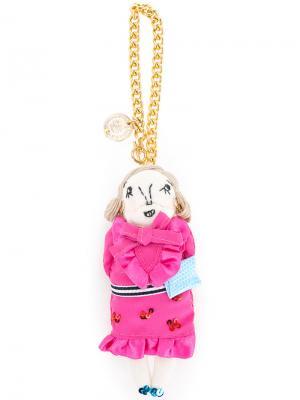 Брелок Jasmine Muveil. Цвет: розовый и фиолетовый