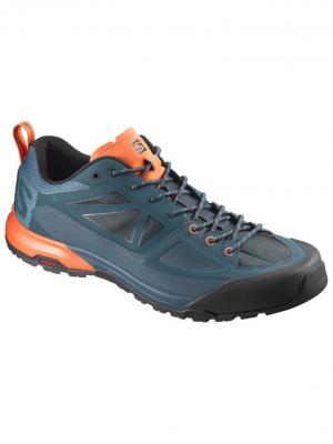 Кроссовки SHOES X ALP SPRY Mallard Bl/Reflecting/S SALOMON. Цвет: синий, оранжевый