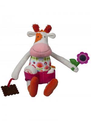 Развивающая игрушка Коровка Молли Ebulobo. Цвет: красный, белый, оранжевый, розовый