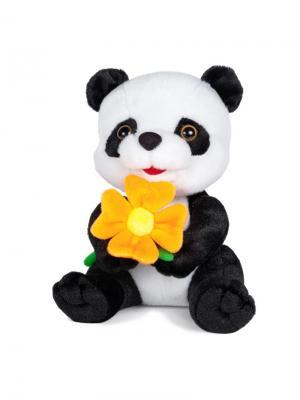 Панда с Цветочком, 22 см MAXITOYS. Цвет: белый