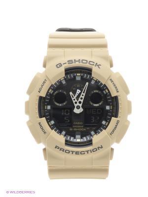 Часы G-Shock GA-100L-8A CASIO. Цвет: бежевый