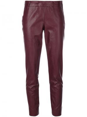 Укороченные брюки Kiltie. Цвет: красный