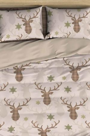 Double Duvet Cover Set COLORS OF FASHION. Цвет: brown, green,