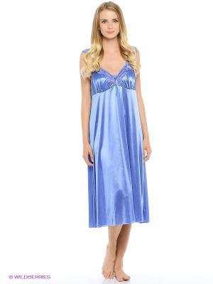 Сорочка ночная Belweiss. Цвет: голубой