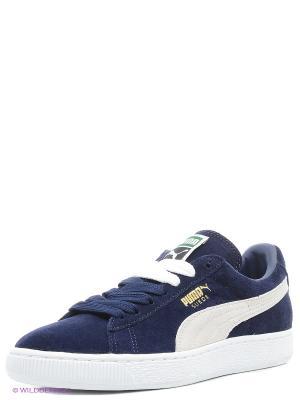 Кроссовки Suede Classic + Puma. Цвет: синий