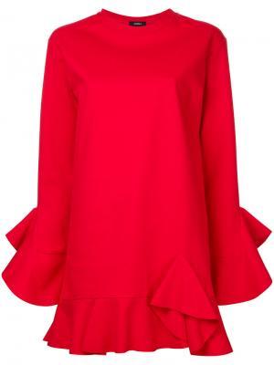 Платье с оборками Goen.J. Цвет: красный